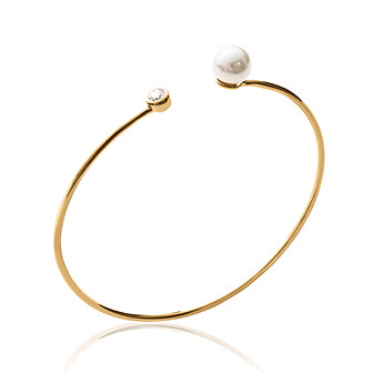 Stone'n'Pearl Bangle - Fifi Ange