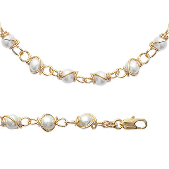 Pearls on a Chain Necklace - Fifi Ange
