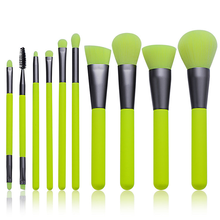 10Pcs Professional Makeup Neon Brushes