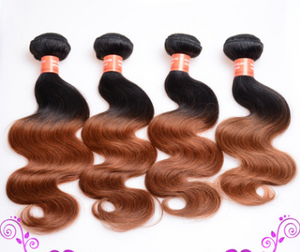 Gradual Double Color Real Wig