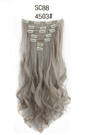 Inter-Color High-Temperature Silk Hair Extension Clip