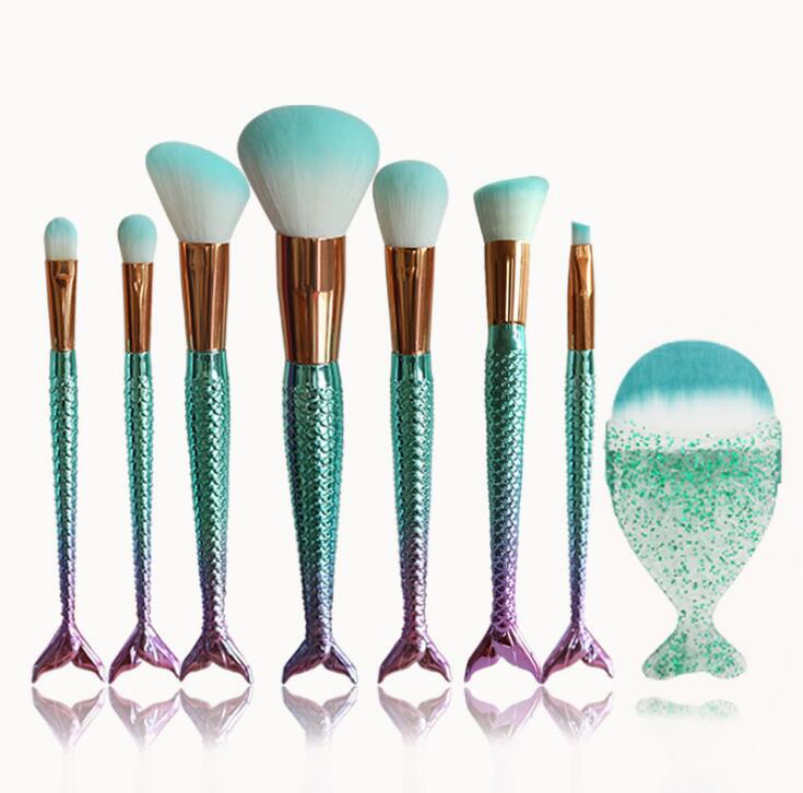 Mermaid Shaped Makeup Brushes