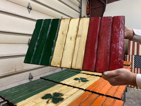 Image of Italian Handmade Wooden Flag
