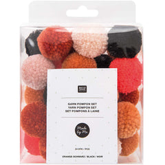 GARNPOMPON SET orange schwarz 4,50€