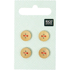 Rico Design Knopfmix Holz 11mm 2,90€