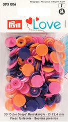 Druckknopf Prym Love orange pink violett 2,90€