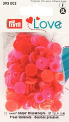 Druckknopf Prym Love rot orange pink 2,90€