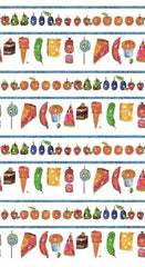 Eric Carle The Very Hungry Caterpillar Food Fabric by Eric Carle 20,-/m