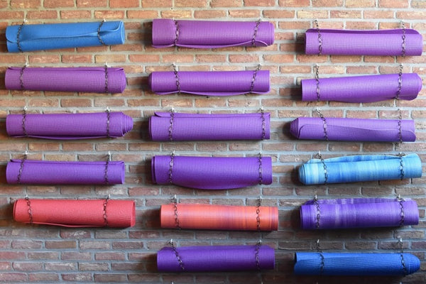 colored yoga mats