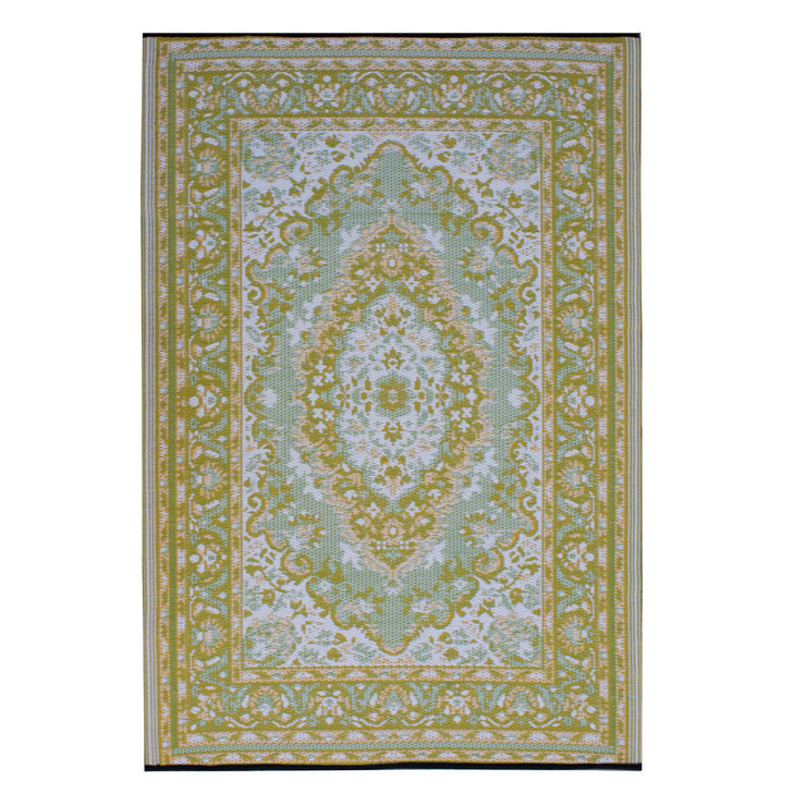 Bukhara Rug Green Orange 6x9