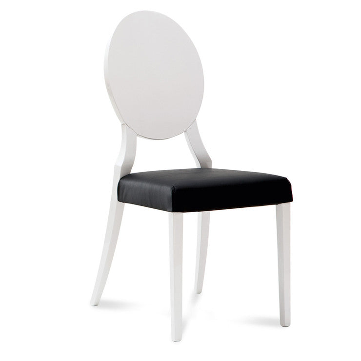 Cameo Chair White Black