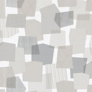 Collage Wallpaper Roll Gray
