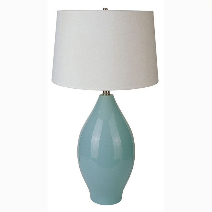 Gourd Ceramic Table Lamp Teal