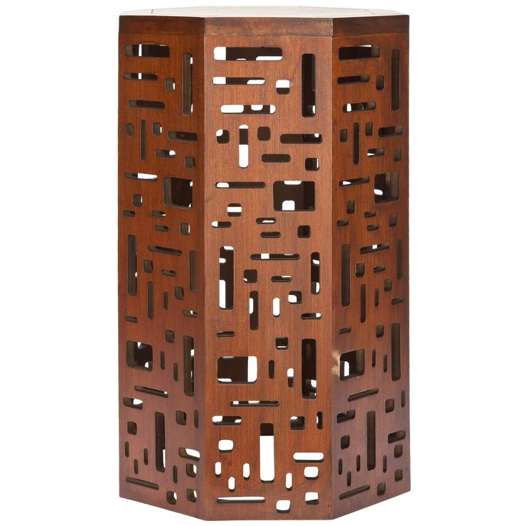 Cody Octogon End Table Brown