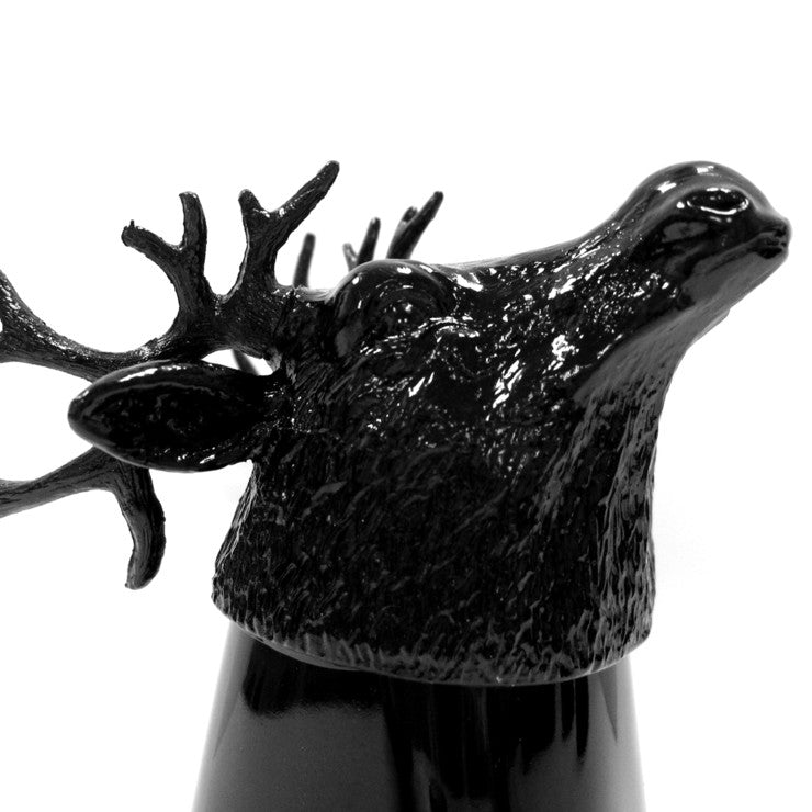 Reindeer Shot Glass Black