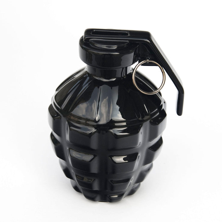 A Love Grenade Coin Bank Black