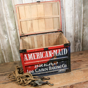 American Maid Bread Crate