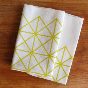 Grid Napkin Set Citron