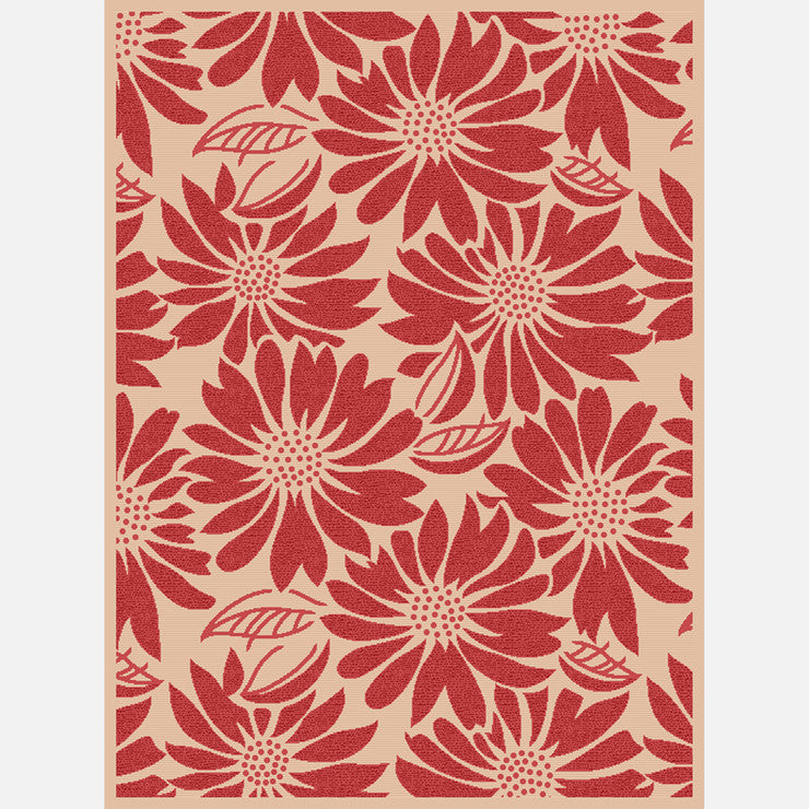 Bouquet 8'x11' Rug Red
