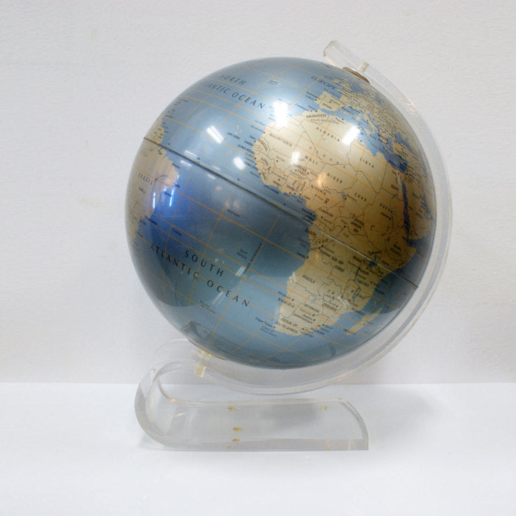 Curved Lucite Table Top Globe