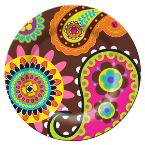 8\ Plate Pink Paisley""