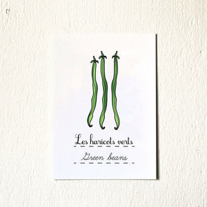 Green Bean Vegetable 5X7