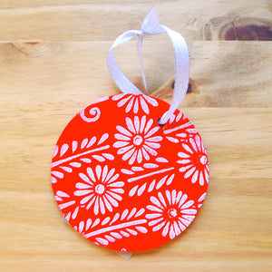 Floral Block Printed Ornament