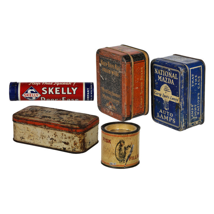Automotive Product Tins Set Of 5