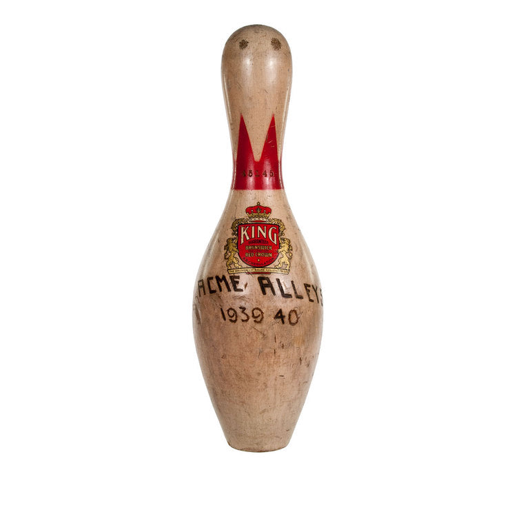 1939 Solid Wood Bowling Pin