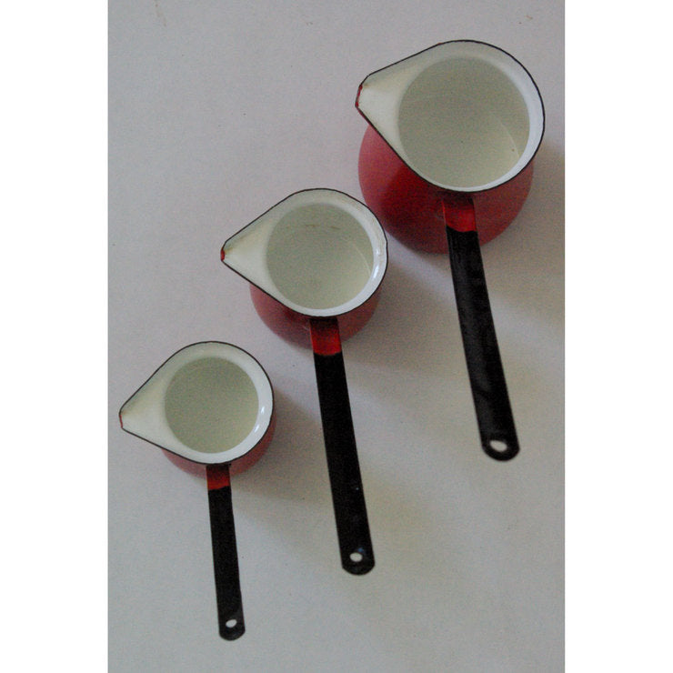 Enameled Dippers Set Of 3