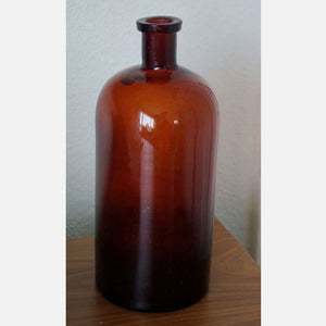 Large Apothecary Bottle Brown