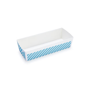 Loaf Pans 6 Pack Stripe Blue
