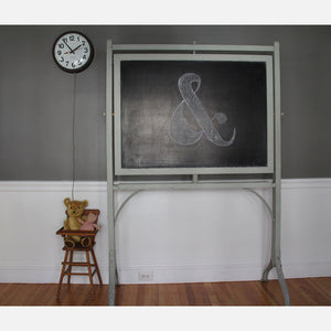 Chalkboard With Cast Iron Legs