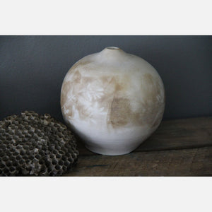Ground Fired Round Vase