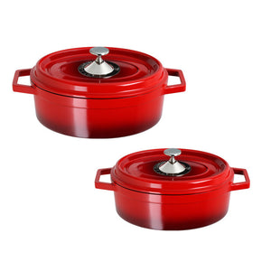 Cocotte Roaster Pan Set Red