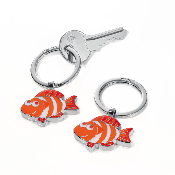 Fish Keyring Red