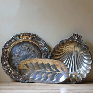 Trays And Bowls Silver Plated