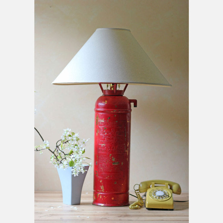 Fire Extinguisher Lamp Red