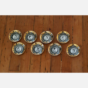 Fornasetti Small Plates Set Of 8