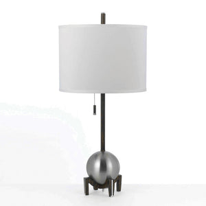 Gravity Table Lamp Silver