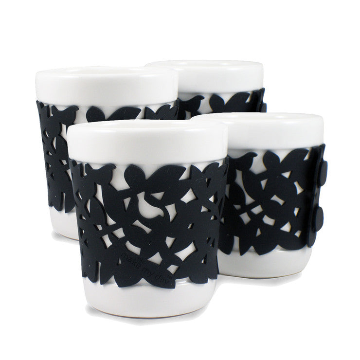 Daily Fix Ceramic Cup Black 4 Pk