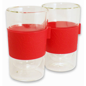 Comfort Double Wall Glass Red