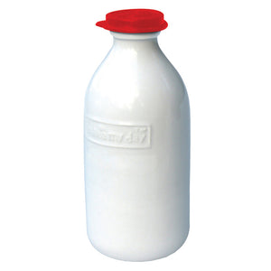 Classic Milk Bottle Red Lid