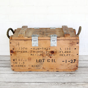 Industrial Ammo Box Wood