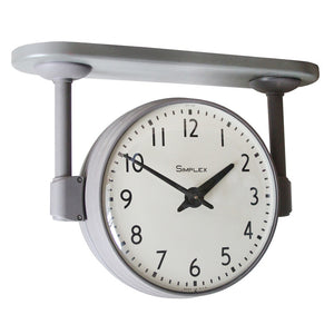 Double Sided School Clock