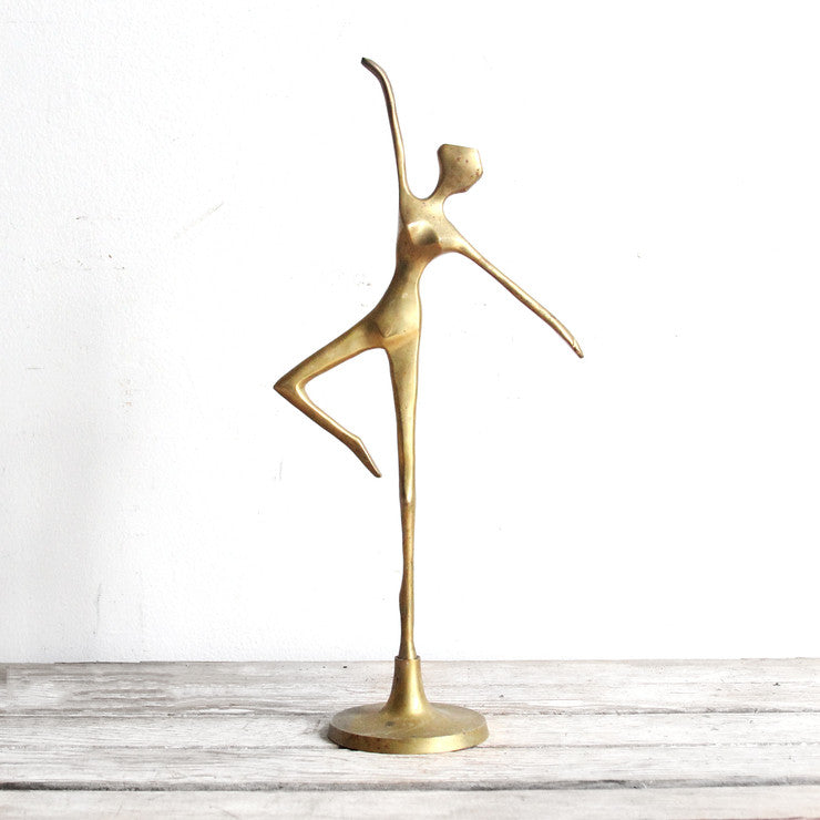 Dancer Figurine Brass
