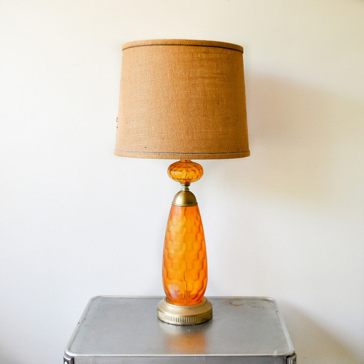 Glass Lamp Amber