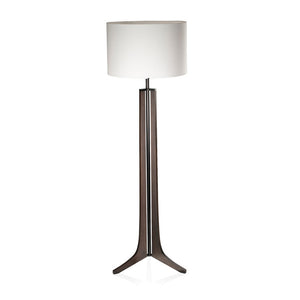 Forma White Linen Floor Lamp