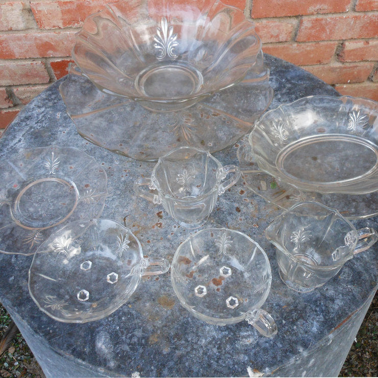 Fostoria Glass Serving Set