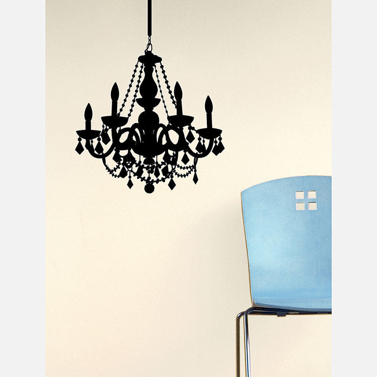 Chain Chandelier Decal 28x23 Ink